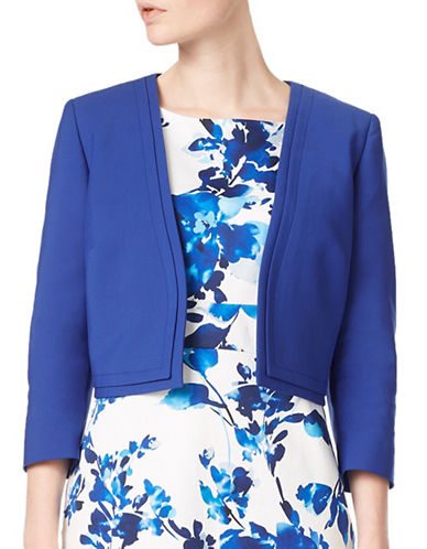 Precis Petite Soline Crop Jacket-BLUE-UK 6/US 4