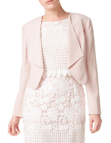 Precis Petite Petite Waterfall Jacket-PALE PINK-UK 18/US 16