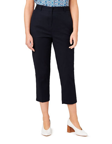 Eastex Cropped Trousers-NAVY-UK 14/US 12