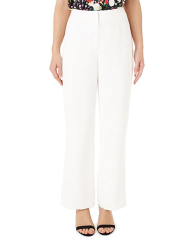 Precis Petite Wide Leg Trousers-WHITE-UK 10/US 8