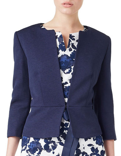 Precis Petite Denise Ottoman Jacket-NAVY-UK 8/US 6