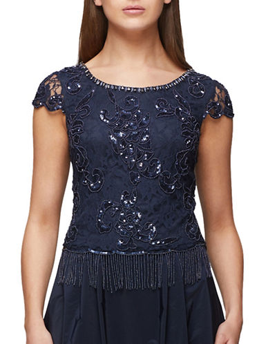 Jacques Vert Tassel Top-NAVY-UK 12/US 10