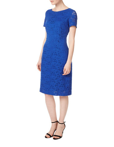 Precis Petite Jessie Lace Sheath Dress-BLUE-UK 10/US 8