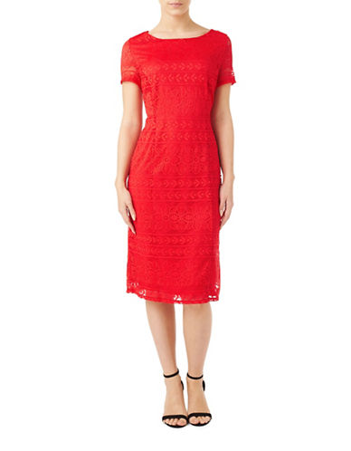 Precis Petite Petite Jassie Lace Dress-ORANGE-UK 14/US 12