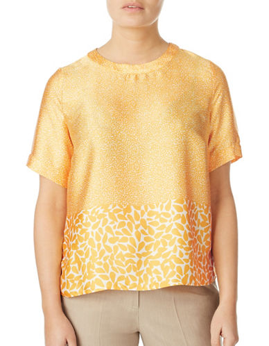 Eastex Mango Burst Print Blouse-YELLOW-UK 16/US 14