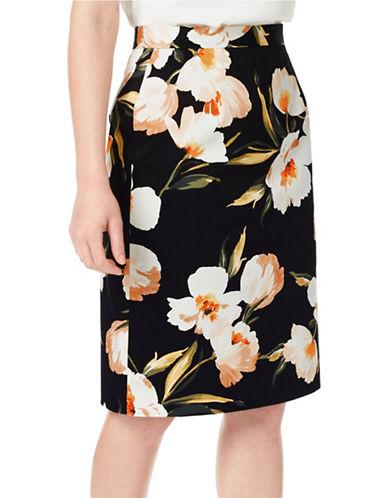 Precis Petite Floral Printed Skirt-MULTI-UK 8/US 6