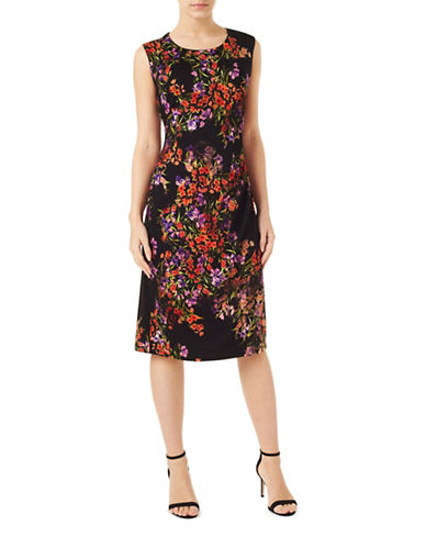 Precis Petite Petite Printed Jersey Dress-BLACK-UK 12/US 10