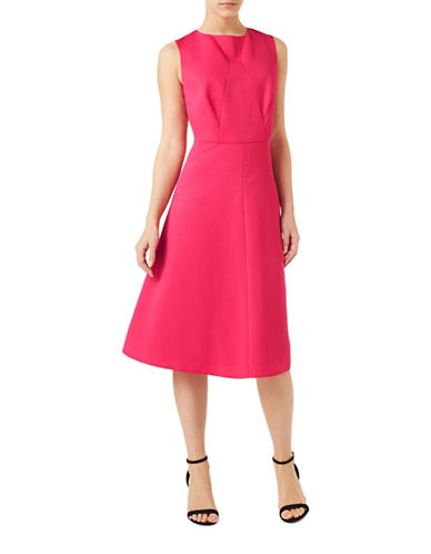 Precis Petite Petite Fit and Flare Dress-PINK-UK 12/US 10