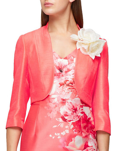 Jacques Vert Corsage Trim Bolero-ORANGE-UK 24/US 22