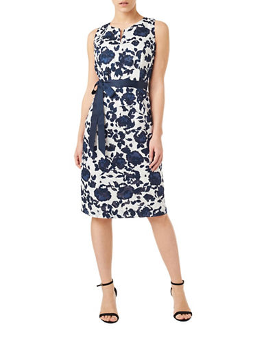 Precis Petite Petite Clip Spot Dress-NAVY-UK 8/US 6