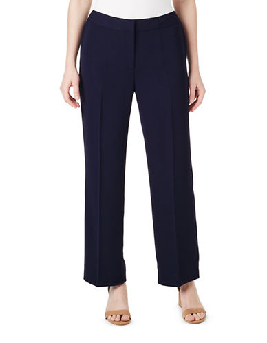 Precis Petite Wide Leg Trousers-NAVY-UK 12/US 10