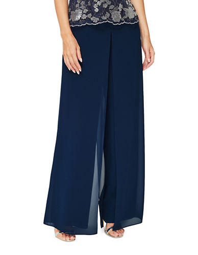 Jacques Vert Lydia Trousers-NAVY-UK 12/US 10