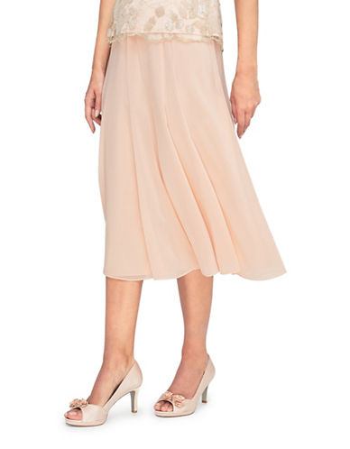Jacques Vert Gracie Chiffon Skirt-NEUTRAL-UK 20/US 18
