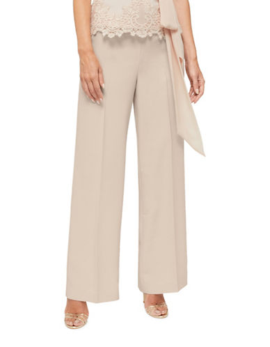 Jacques Vert Morena Wide-Leg Trousers-NEUTRAL-UK 22/US 20