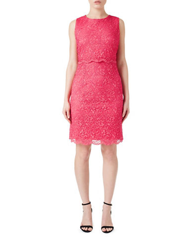 Precis Petite Lace Bodice Dress-PINK-UK 18/US 16