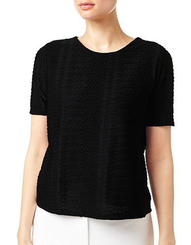 Eastex Textured Jersey Top-BLACK-UK 12/US 10