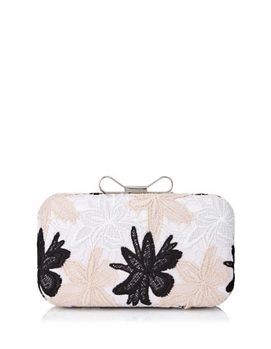 Precis Petite Multi Lace Clutch-CREAM-One Size