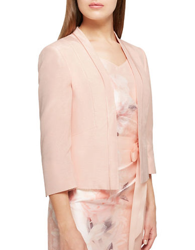 Jacques Vert Brooke Shantung Jacket-LIGHT PINK-UK 22/US 20