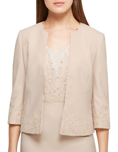 Jacques Vert Jacey Lace Cuff Jacket-NEUTRAL-UK 24/US 22