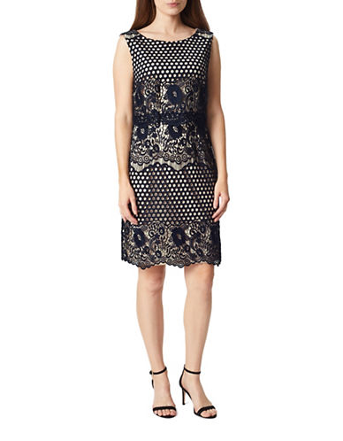 Precis Petite Abra Lace Shift Dress-NAVY-UK 8/US 6