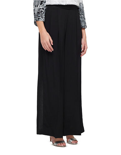 Jacques Vert Full Length Trousers-BLACK-UK 12/US 10