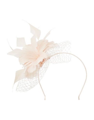 Precis Petite Feather Mesh Fascinator-PINK-One Size