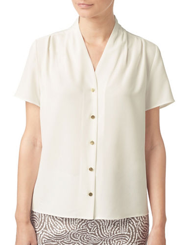 Eastex Drape Neck Blouse-IVORY-UK 12/US 10