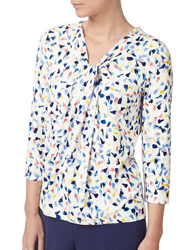Eastex Seed Print Jersey Top-BLUE MULTI-UK 12/US 10