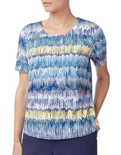 Eastex Floating Stems Jersey Top-NAVY MULTI-UK 16/US 14