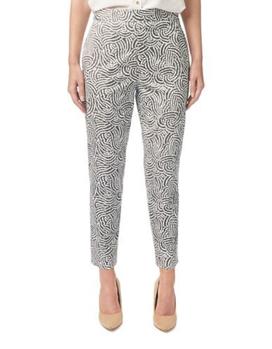 Eastex Dandelion Print Trousers-CREAM MULTI-UK 18/US 16
