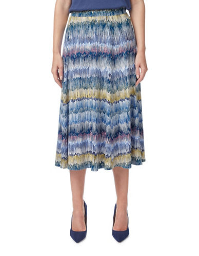 Eastex Linear Seed Jersey Skirt-NAVY MULTI-UK 10/US 8