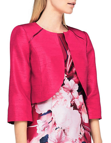 Jacques Vert Raglan Seam Detail Bolero-DARK PINK-UK 12/US 10