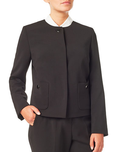 Eastex Double Cloth Jacket-BLACK-UK 12/US 10