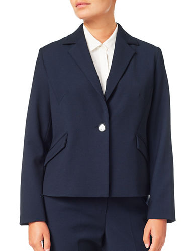 Eastex Textured Crepe Jacket-NAVY-UK 12/US 10