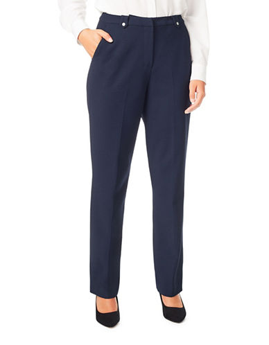 Eastex Crepe Trousers-NAVY-UK 14/US 12
