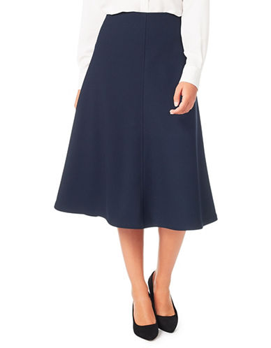 Eastex Crepe A-Line Skirt-NAVY-UK 18/US 16