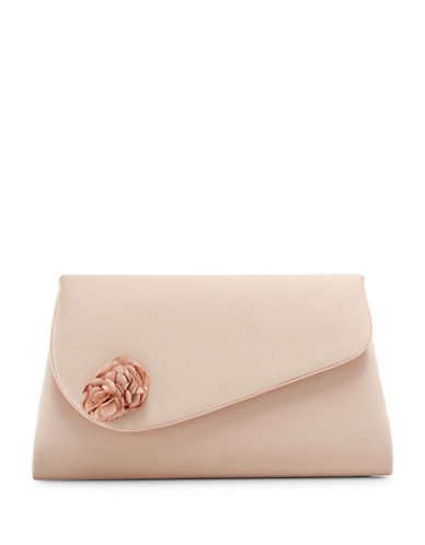 Jacques Vert Flower Trim Clutch-NEUTRAL-One Size