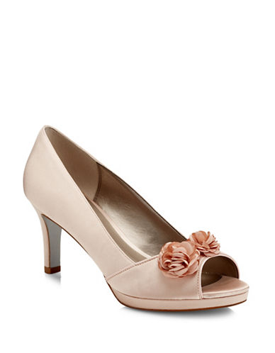 Jacques Vert Flower Trim Pumps-NEUTRAL-7.5