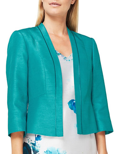 Jacques Vert Ellie Open Front Cardigan-GREEN-UK 14/US 12