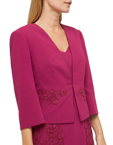 Jacques Vert Pandora Lace Jacket-PINK-UK 12/US 10