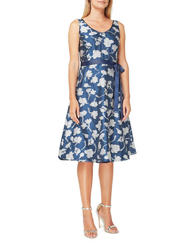 Jacques Vert Emmie Prom Dress-MULTI NAVY-UK 24/US 22