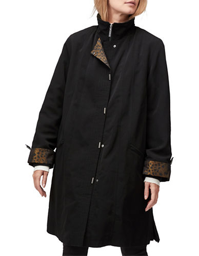 Jacques Vert Classic Mid-Length Mac Jacket-BLACK-Medium