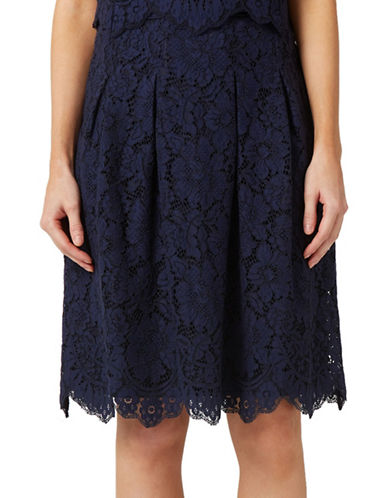 Precis Petite Lucy Lace Skirt-NAVY-UK 10/US 8