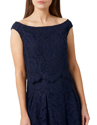 Precis Petite Lucy Lace Top-NAVY-UK 8/US 6