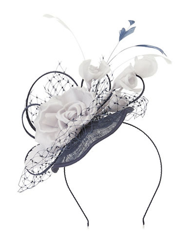Jacques Vert Flower Trim Headpiece-MULTI NAVY-One Size
