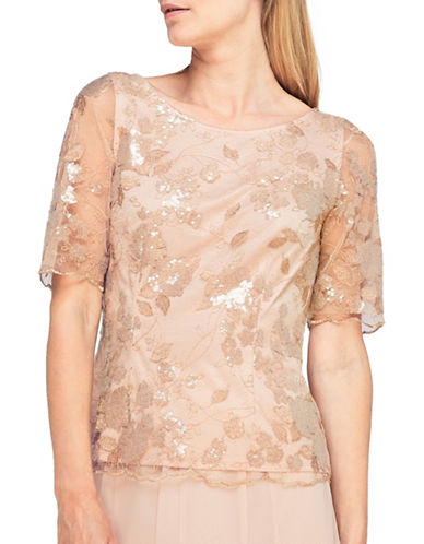 Jacques Vert Hermione Lace Blouse-NEUTRAL-UK 14/US 12