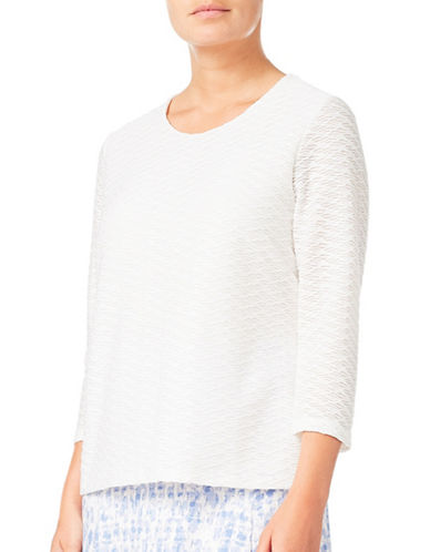 Eastex Textured Jersey Top-IVORY-UK 10/US 8