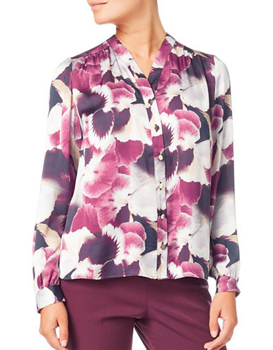 Eastex Harvest Bloom Blouse-PURPLE MULTI-UK 12/US 10