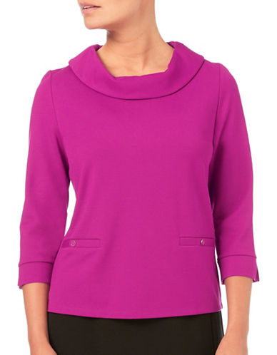 Eastex Cowlneck Top-PINK-UK 18/US 16