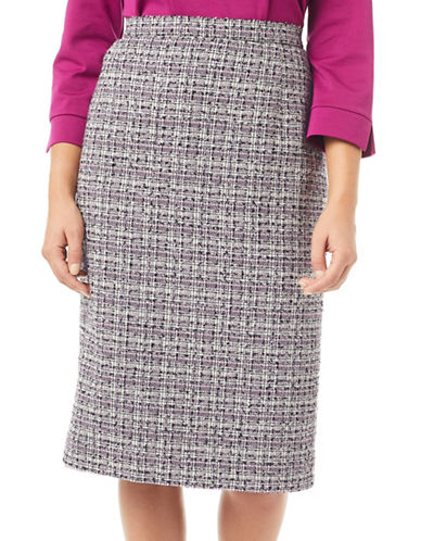 Eastex Tipped Tweed Pencil Skirt-BLACK-UK 14/US 12